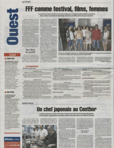 Le Quotidien du 16 mars 2019